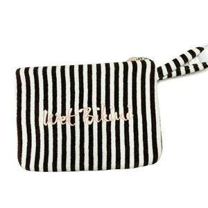 Henri Bendel iconic striped Wet Bikini Bag clutch